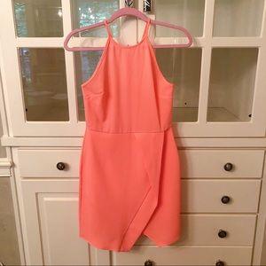 Melon Overlay Dress